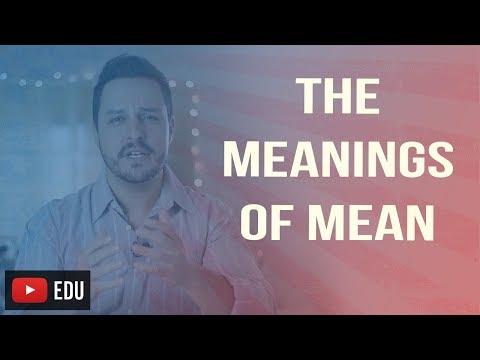 Significado de la palabra mean en espanol