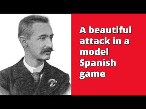 A beautiful attack in a model Spanish game |  Schlechter vs  Koehnlein: Hamburg GER 1910