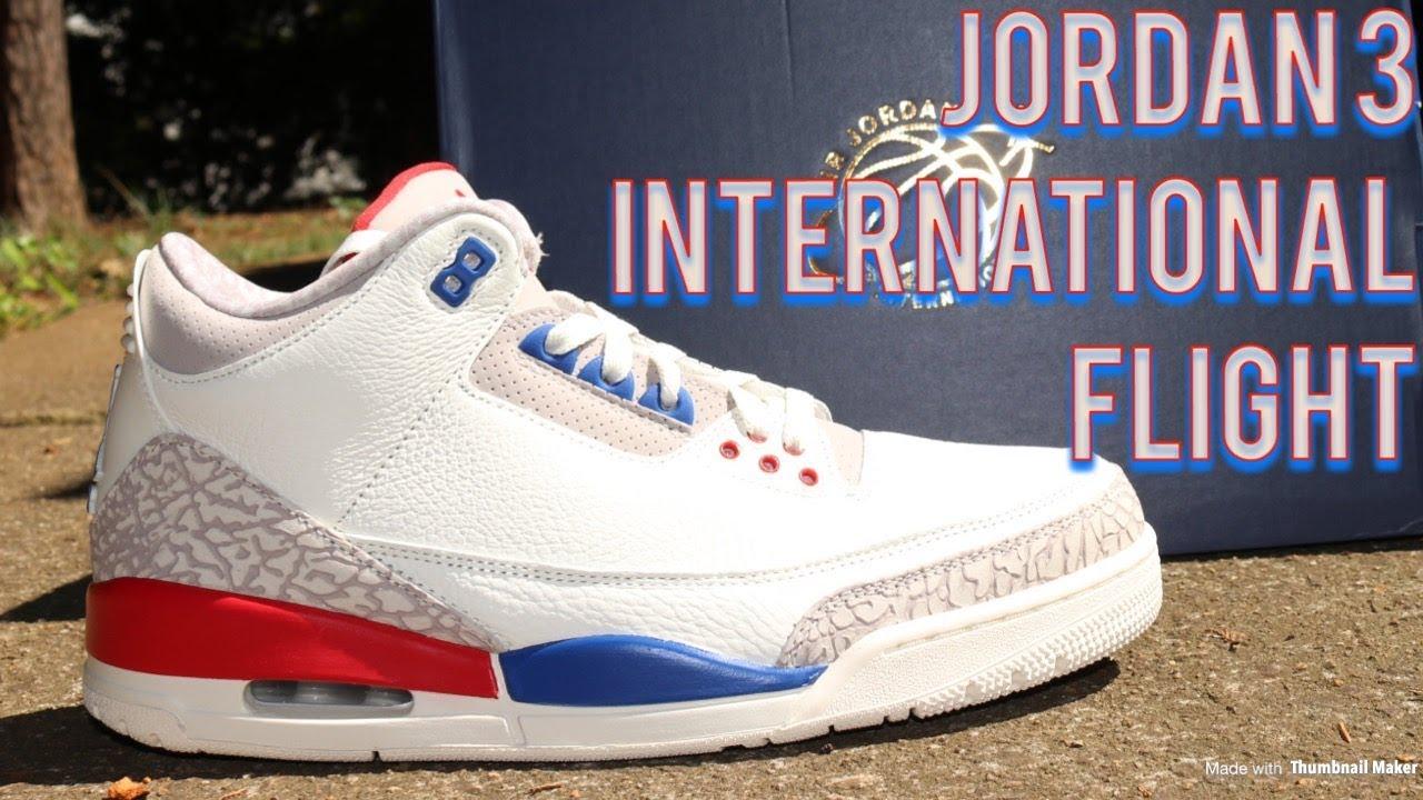 Air Jordan 3 International Flight Unboxing   On Feet - YouTube a2b2234e5