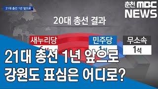 [춘천MBC] 기획 총선D-1 21대 총선 강원도 표심은