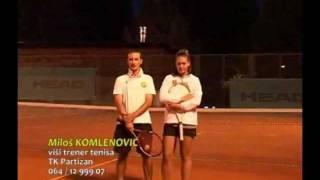 Tehnika servisa @ Milos Komlenovic i Jovana Jaksic