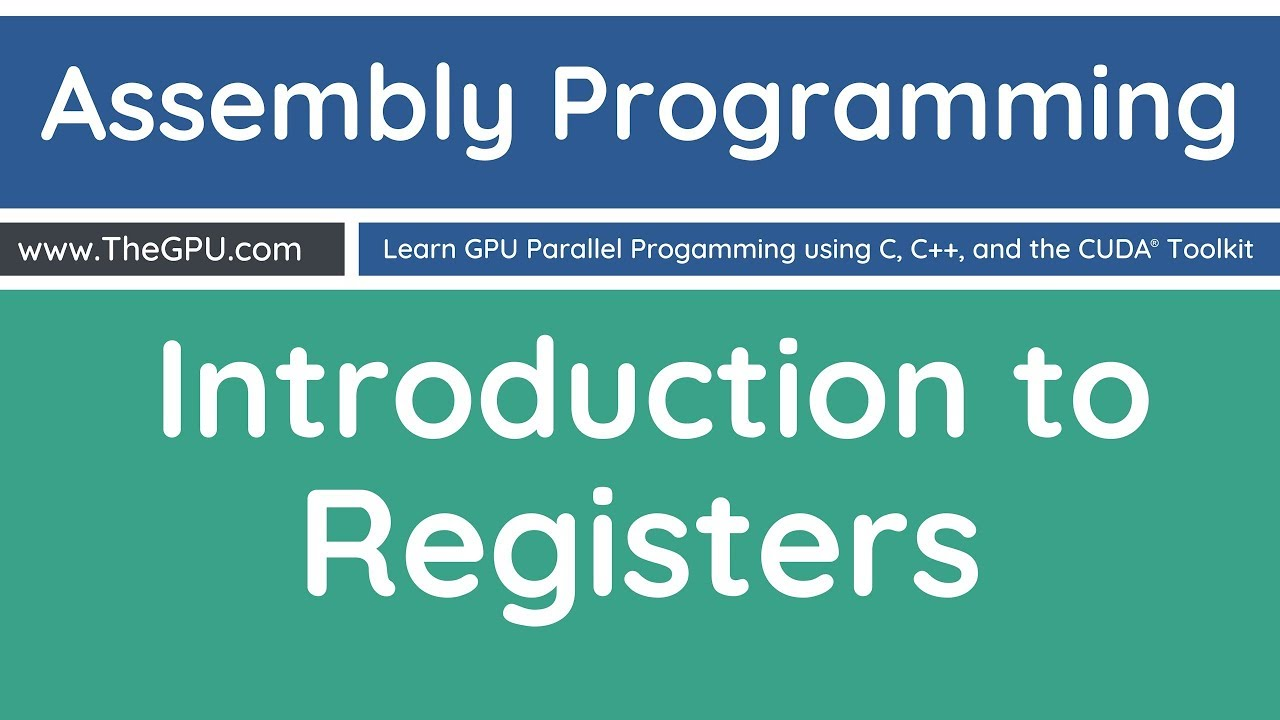 Learn Assembly Programming - Introduction to Registers