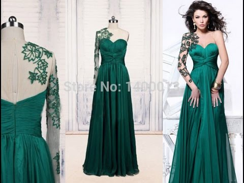 Top 100 beautiful green evening dress for women - YouTube 07e077aa76
