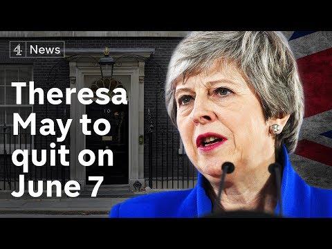 Theresa May resignation speech - PM announces June 7 departure