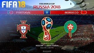 FIFA 18 World Cup - Portugal vs. Morocco @ Luzhniki Stadium (Group B)