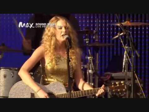 Taylor Swift - Our Song, HQ @ Sound Relief...