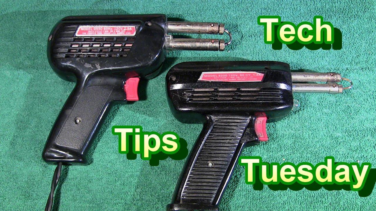 tech tips tuesday super hot soldering gun funnycat tv. Black Bedroom Furniture Sets. Home Design Ideas