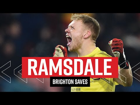 WHAT A PERFORMANCE 👏 | Ramsdale's best moments against Brighton