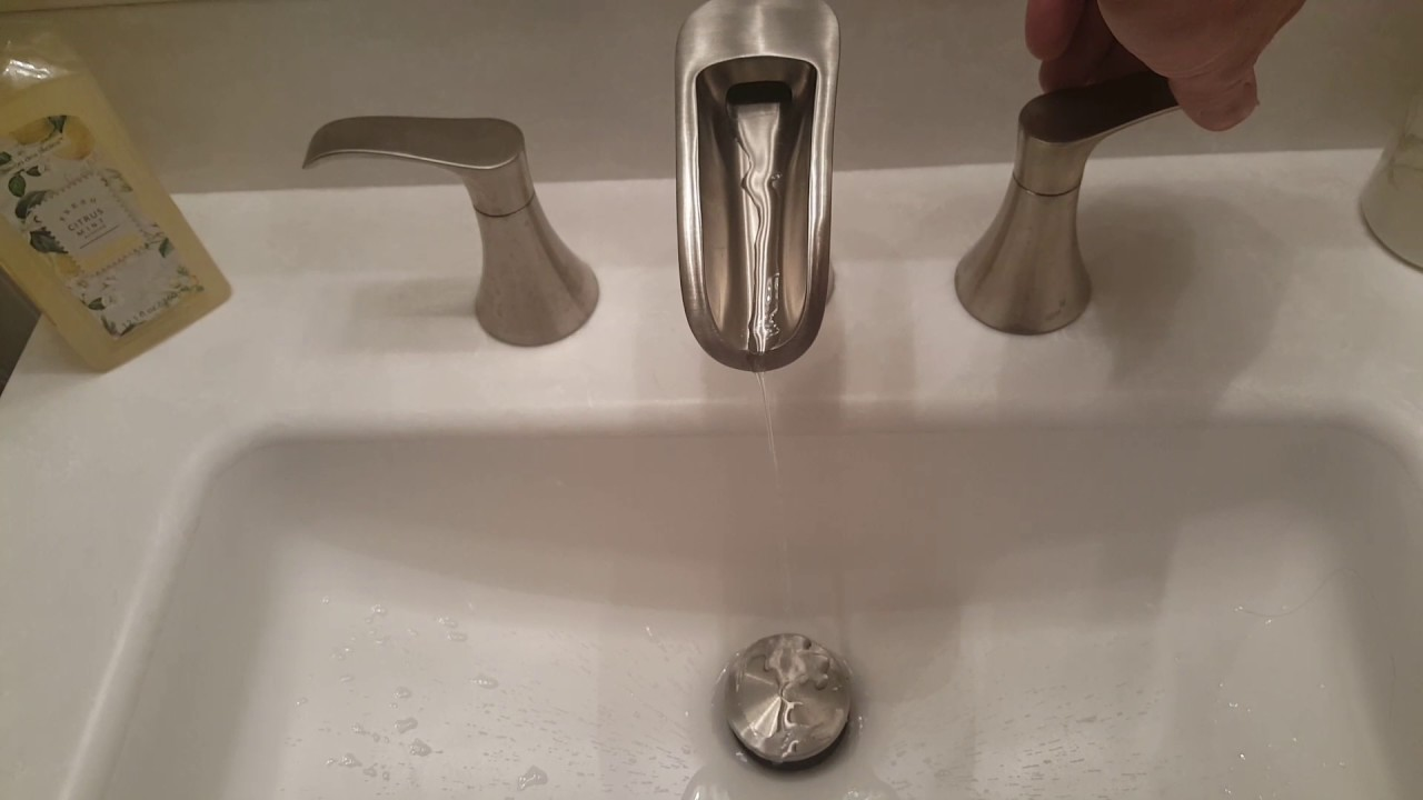 Waterfall Faucet - YouTube