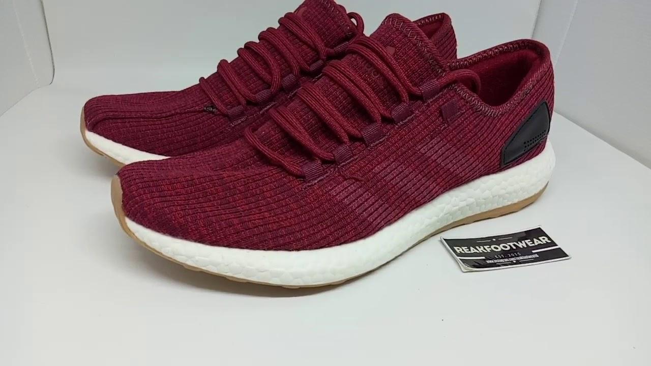 Adidas pureboost ltd burgundy maroon - YouTube e17a0826f