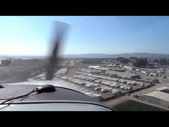 Oceano Airport Ca. Landing.L52