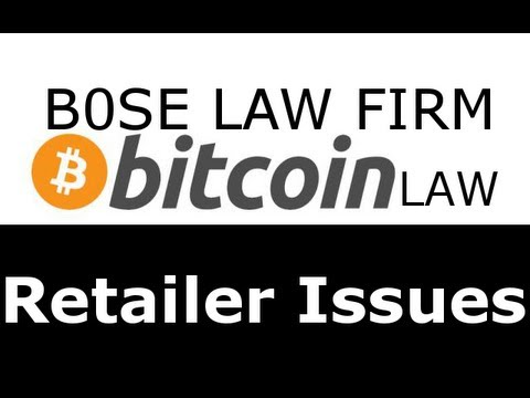 BitcoinLaw - Retailer Issues for Acceptance of Bitcoins