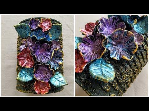 DIY - Creative Way To Reuse Old Tin Can - Reuse Crafts - Recycle Crafts - Mixed Media Art