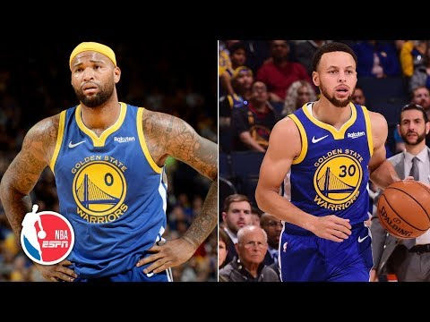Steph Curry, Klay Thompson dominate, DeMarcus Cousins ejected in Warriors' win | NBA Highlights thumbnail