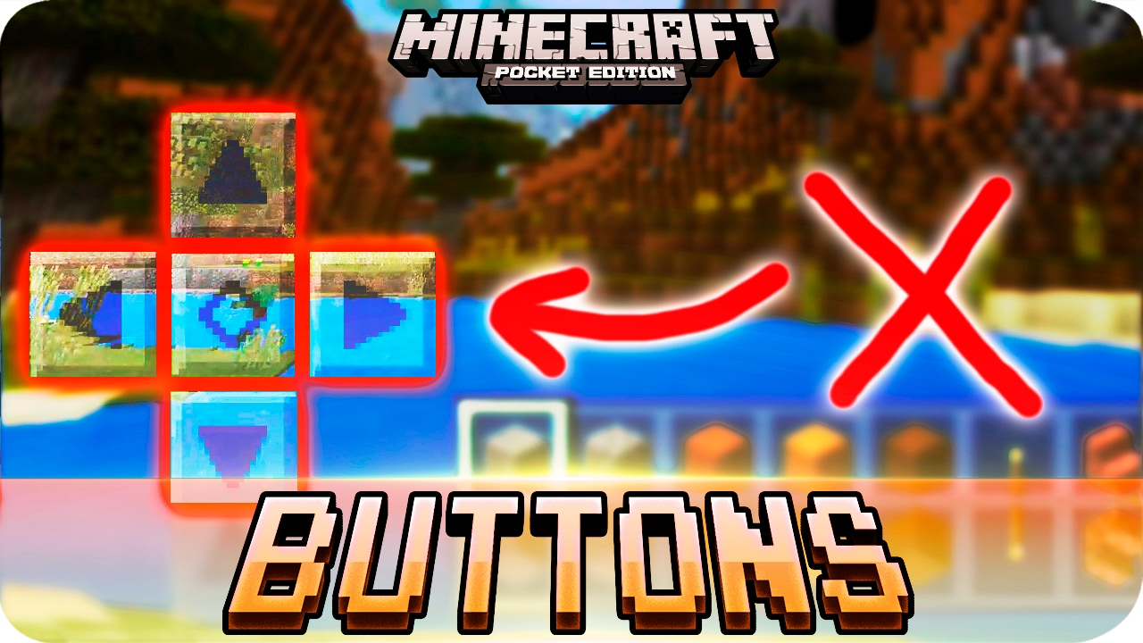 Minecraft - How to Hide The Arrow Key Buttons Tutorial - iOS & Android MCPE  1 0 3 / 1 0