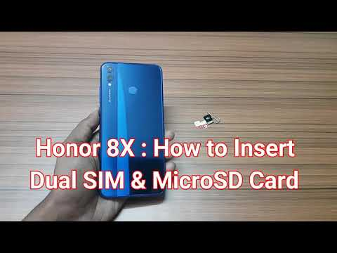 How To Insert SIM & MicroSD Card Into Honor 8X