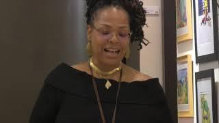Poet: Monique Franklin; Painting: Enough