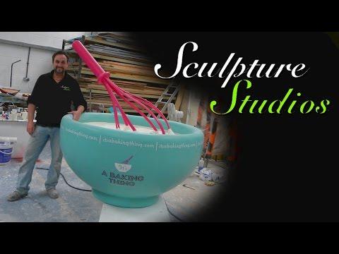 Giant Bowl & Whisk from Polystyrene / Styrofoam by Sculpture Studios