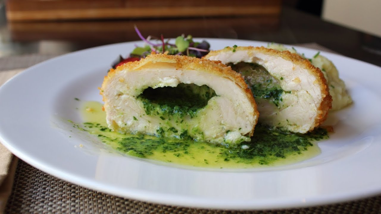 Chicken Kiev  Crispy Chicken Breast Stuffed With Garlic Butter Sauce  How  To Make Chicken Kiev  Youtube