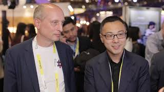 Sunny Lu (VeChain) and Dieter Sellner (DB Schenker) from VivaTech 2019