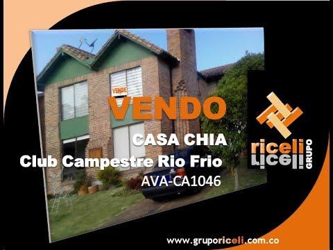 VENDE CASA CHIA CLUB CAMPESTRE RIO FRIO AVA-CA1046