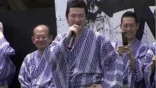 松本・大歌舞伎~市民ふれあい座での中村獅童あいさつです 2012年、...
