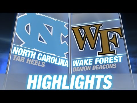 North Carolina vs Wake Forest | 2014-15 ACC Men's Basketball Highlights
