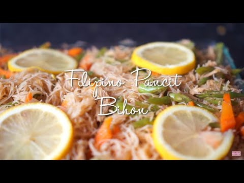 Pancit Bihon Vermicelli Noodles - Filipino Recipes | Hungry for Goodies