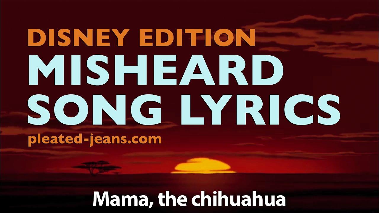 Misheard Song Lyrics: Disney Edition - YouTube