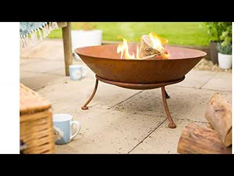 La Hacienda IPATA Oxidised Cast Iron Garden Fire Pit Bowl Outdoor Patio Heater