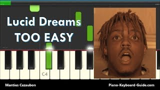 Juice Wrld Lucid Dreams Right Hand Slow Easy Piano Tutorial