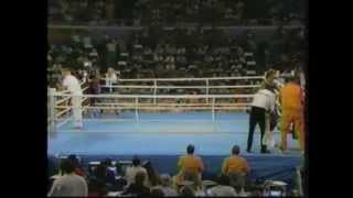 1984 Olympic Games - Boxing 81kg Semifinal - Evander Holyfield USA v Kevin Barry NZL