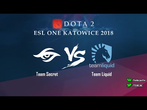 [RU] Team Secret vs Team Liquid | Bo3 | ESL One Katowice 2018 by @Tekcac