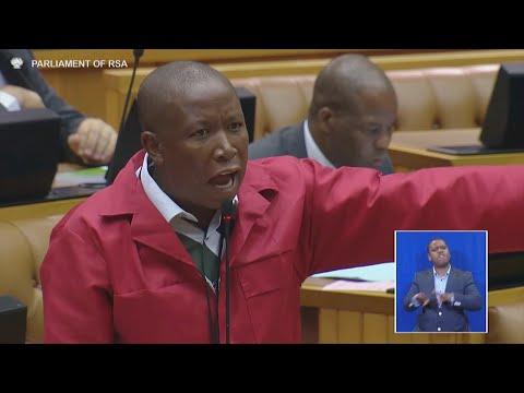 Malema interrupts Zuma's Q&A session