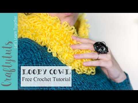 Loopy Cowl, How to crochet a cowl , Free Pattern and Tutorial (with ...