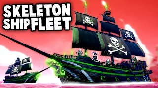 Battling the NEW CURSED Skeleton SHIP FLEET! (Sea of Thieves Cursed Sails Gameplay)