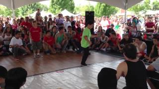 Bboy battle. Kids vs adults