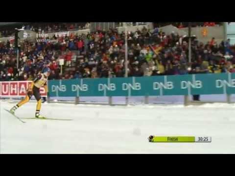 Magdalena Neuner - 31st World Cup win - Oslo Pursuit, Feb 2012