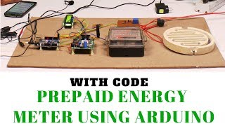 Prepaid energy meter project using GSM / Arduino [ with code and working ]