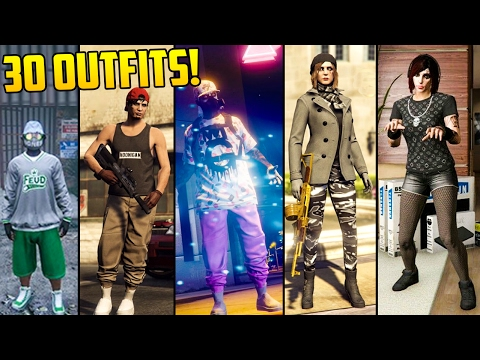 GTA Online FASHION FRIDAY! 30 NEW OUTFITS! (The Tuner Winter Combat Import Warlord U0026 MORE ...