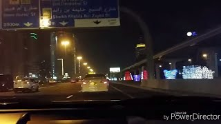 "NIGHT JOURNEY @""DUBAI""SHEIKH ZAYED ROAD 