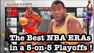 Which is the Best ERA in NBA History ? All-Time NBA Decade Team NBA Playoffs Simulation in 2K18