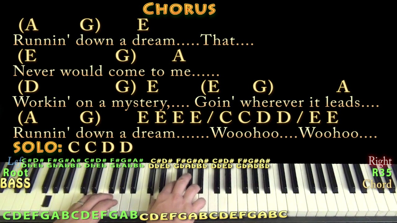 Running down a dream tom petty piano cover lesson with chords running down a dream tom petty piano cover lesson with chordslyrics arpeggios hexwebz Image collections