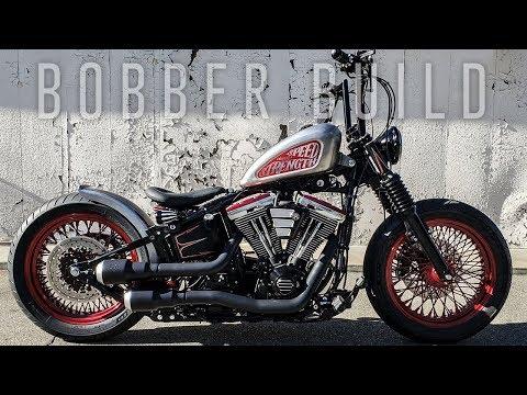 Ultimate Bobber Build Timelapse - Harley FatBoy