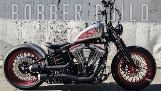 Ultimate Bobber Build Timelapse - Harley FatBoy