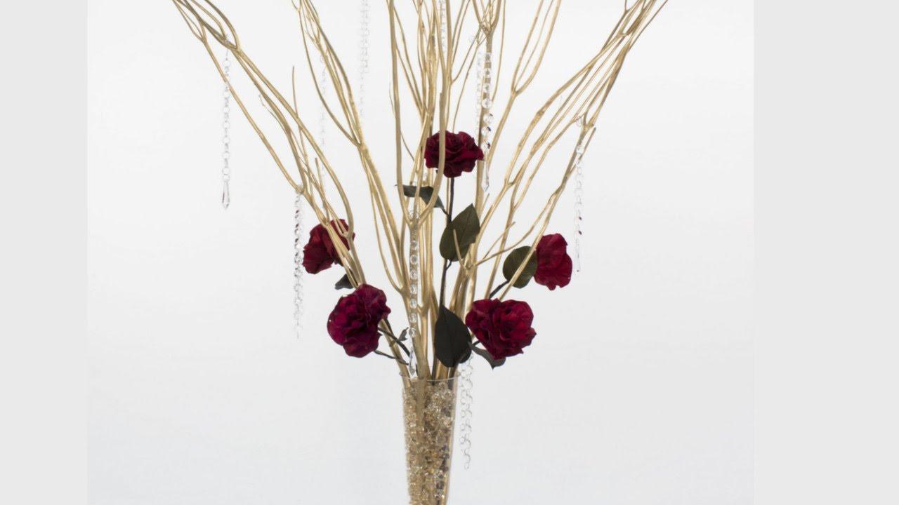 Celebration: A Silver & Gold Branch Centerpiece Arrangement - YouTube