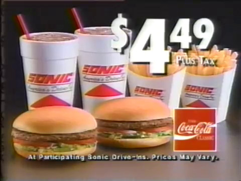 Frankie Avalon Sonic Brown Bag Burger Special Commercial
