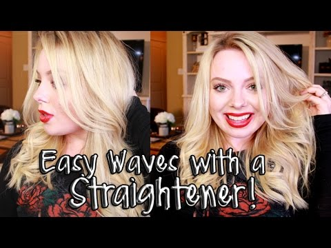 Effortless Waves Using A Hair Straightener Styling Hair With Flat