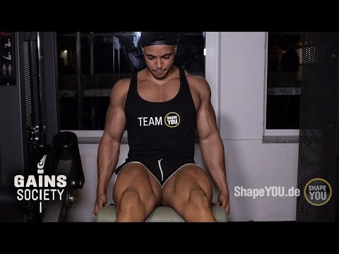 Leg Workout - Justin St Paul & Johannes Luckas - Gainssociety Day 3