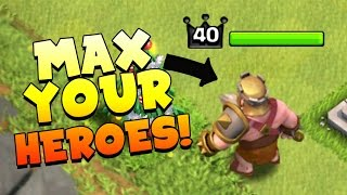 Clash Of Clans: HOW TO MAX YOUR HEROES! THE EASY & PROVEN BEAKER METHOD